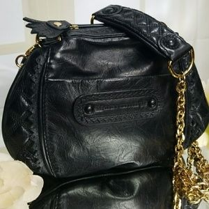🍍Juicy Couture👑🍍Black Leather Crossbody bag